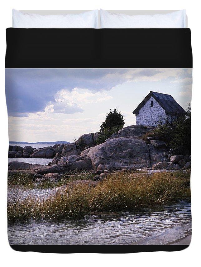 Landscape Beach Storm Duvet Cover featuring the photograph Cnrf0909 by Henry Butz