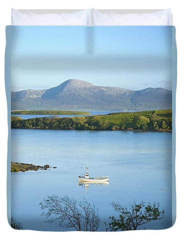 Day Duvet Cover featuring the photograph Co Mayo, Ireland Fishing Boat In Clew by Gareth McCormack