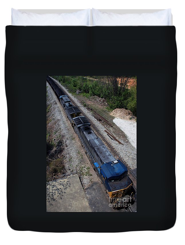 Train Duvet Cover featuring the photograph Coal Crossing by Kelvin Booker