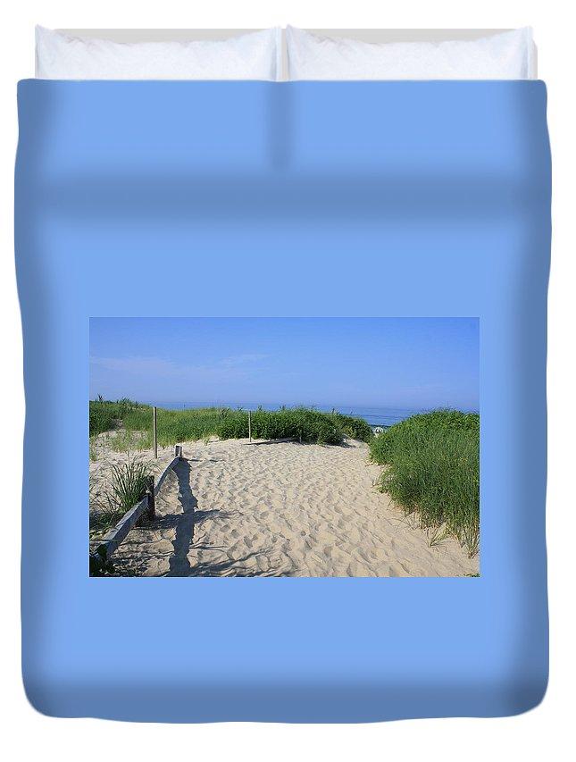 Coast Guard Beach Duvet Cover featuring the photograph Coast Guard Beach Ccns by Donna Walsh