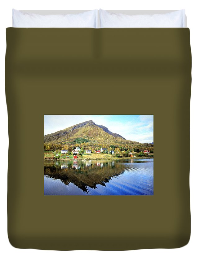 Norway Duvet Cover featuring the photograph Coast Of Norway Reflections by William Gardner