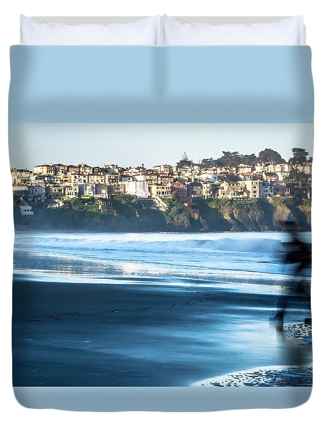Usa Duvet Cover featuring the photograph Coastal Scenes At Usa Pacific Coast by Alex Grichenko
