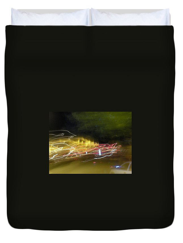 Photograph Duvet Cover featuring the photograph Coaster Of Lights by Thomas Valentine