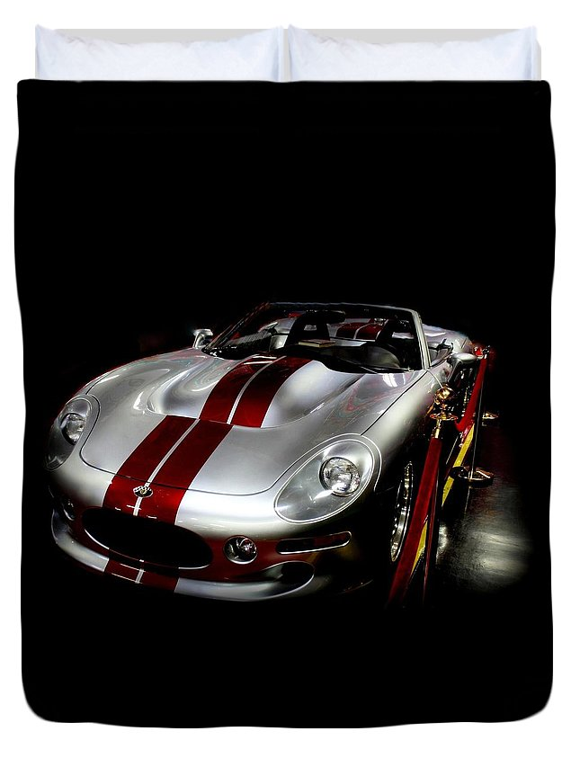 Car Duvet Cover featuring the photograph Cobra Classic by Rosanne Jordan