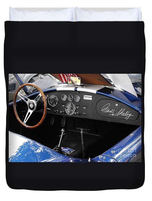Cobra Duvet Cover featuring the photograph Cobra Dshboard by Neil Zimmerman