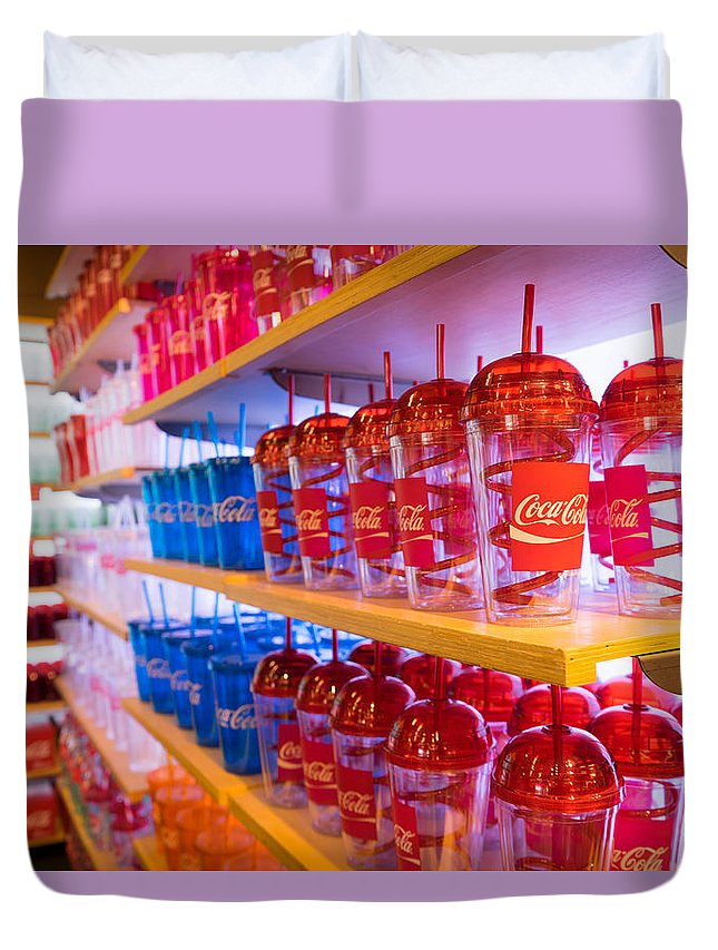 Coke Duvet Cover featuring the photograph Coca Cola by Erick Kim