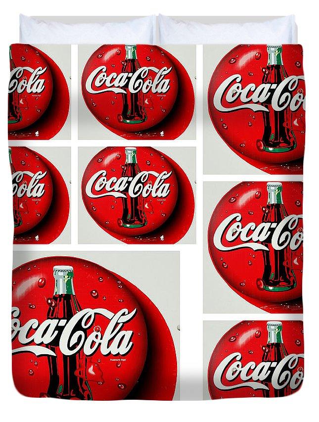 Coca Cola Iconic Button Logo Tile Squares White Border