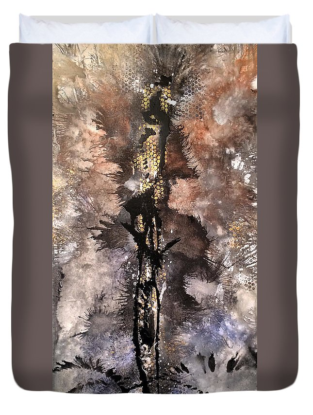 Modern Art Duvet Cover featuring the painting Cocktail Hour by Jill English