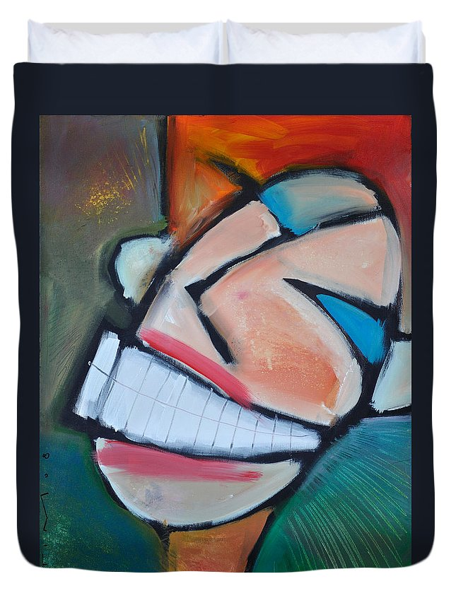 Smile Duvet Cover featuring the painting Coconut Bread by Tim Nyberg