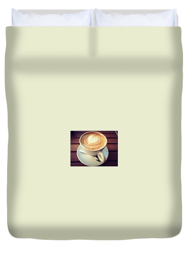 Coffee Duvet Cover featuring the photograph Coffee Lover by Rossana Azzoni