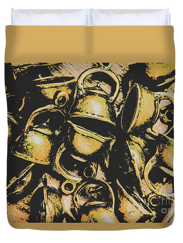 Shop Duvet Cover featuring the photograph Coffee Shop Abstract by Jorgo Photography - Wall Art Gallery