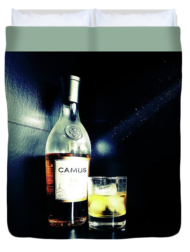 Food Duvet Cover featuring the photograph Cognac Camus by Nick Difi