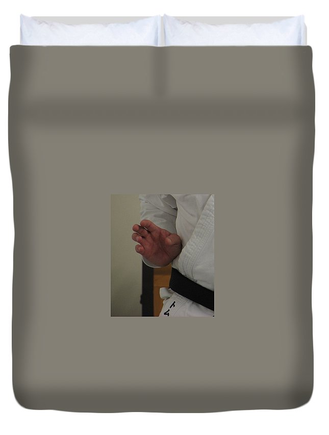 Karate Duvet Cover featuring the photograph Coiled by Kelly Mezzapelle