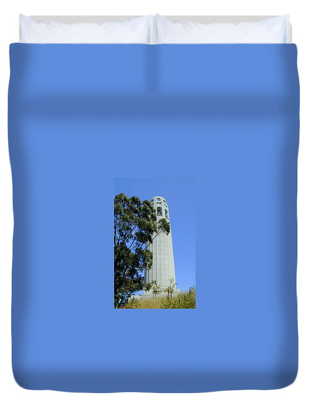 Coit Duvet Cover featuring the photograph Coit Tower by Douglas Barnett