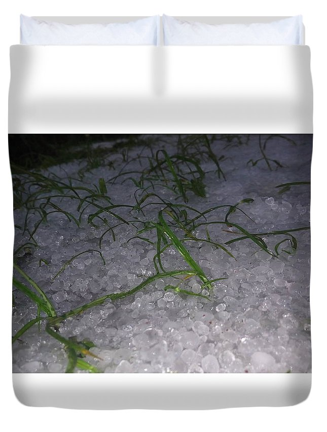 Duvet Cover featuring the photograph Cold by Dominic Livingstone