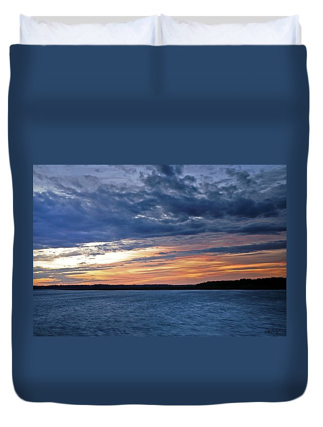 Sunset Duvet Cover featuring the photograph Cold Front by Phill Doherty