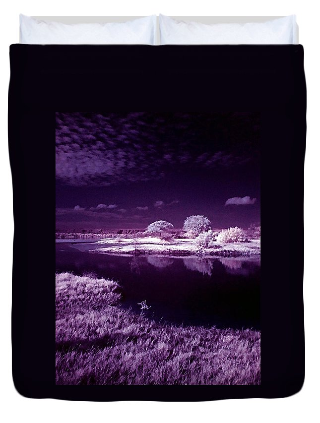 Infrared Duvet Cover featuring the photograph Cold Landscape by Galeria Trompiz