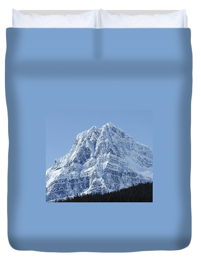 Cold Duvet Cover featuring the photograph Cold Mountain- Banff National Park by Tiffany Vest