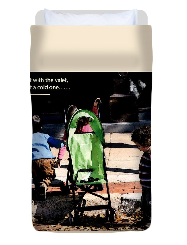 Youngsters Duvet Cover featuring the photograph Cold One by Leon Hollins III