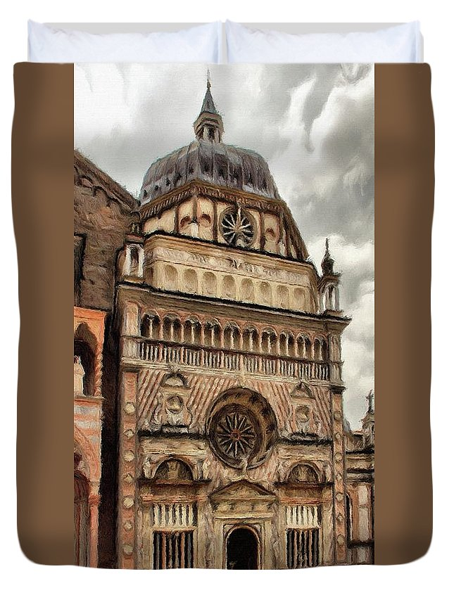 Chapel Duvet Cover featuring the painting Colleoni Chapel by Jeffrey Kolker