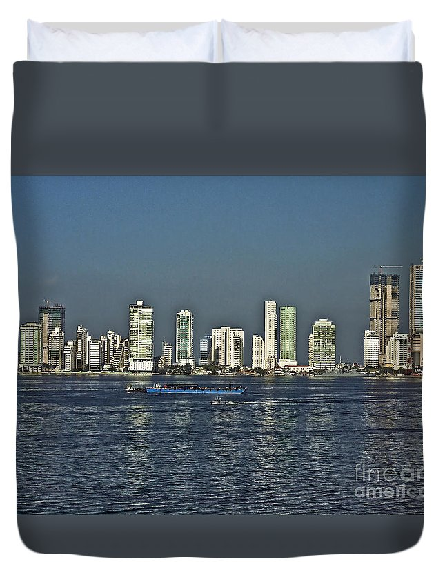 Architecture Duvet Cover featuring the photograph Colombia019 by Howard Stapleton