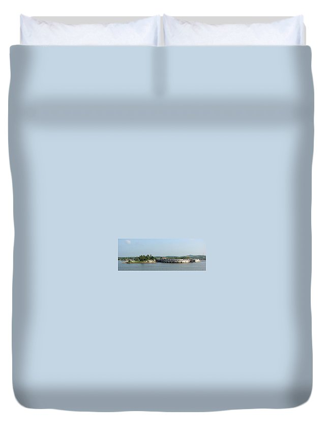 Fortress Duvet Cover featuring the photograph Colombian Fortress by Brett Winn