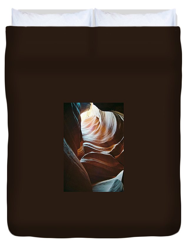 Landscape Duvet Cover featuring the photograph Color And Curves by Cathy Franklin