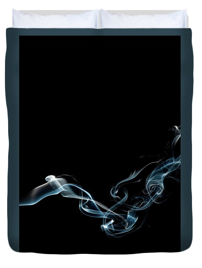 Abstract Duvet Cover featuring the photograph Color and Smoke VI by Scott Norris