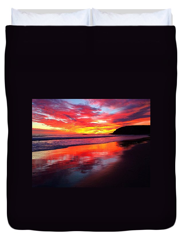 Sunsets Duvet Cover featuring the photograph Color Blast by JoJo Brown