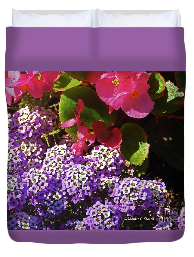 Garden Flowers Duvet Cover featuring the photograph Color Combination Flowers Cc63 by Monica C Stovall