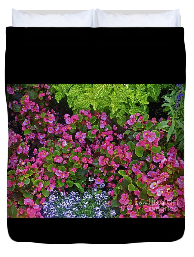 Garden Flowers Duvet Cover featuring the photograph Color Combination Flowers Cc73 by Monica C Stovall