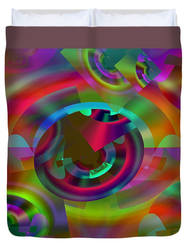 Color Duvet Cover featuring the digital art Color Dome by Lynda Lehmann