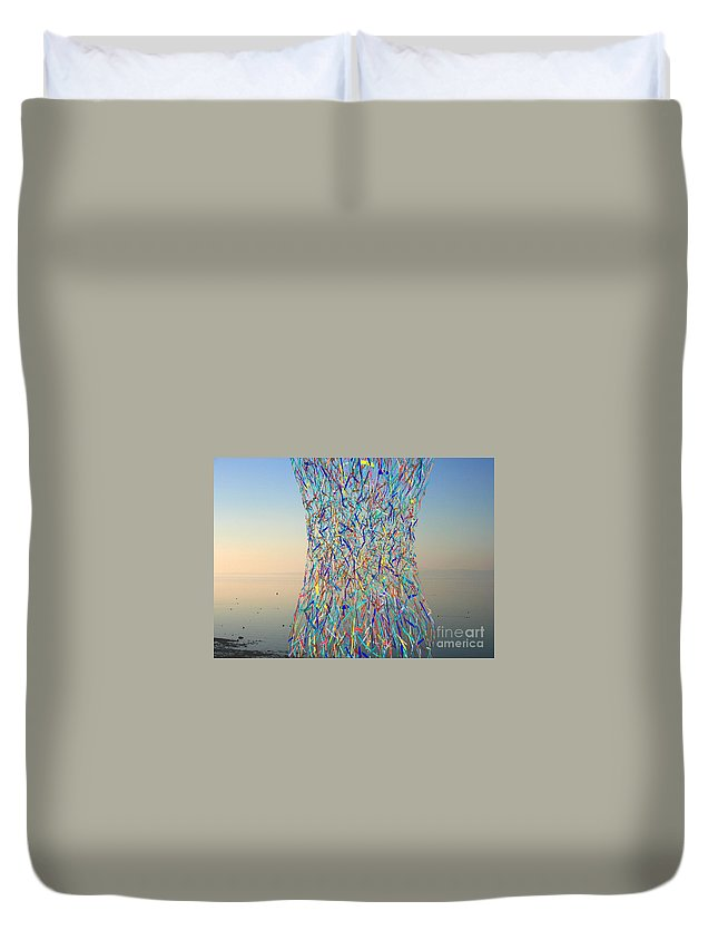 Bay Duvet Cover featuring the photograph Color Explosion by Andy Mercer