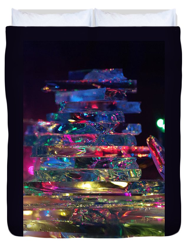 Duvet Cover featuring the photograph Color Glass by Gerald Kloss