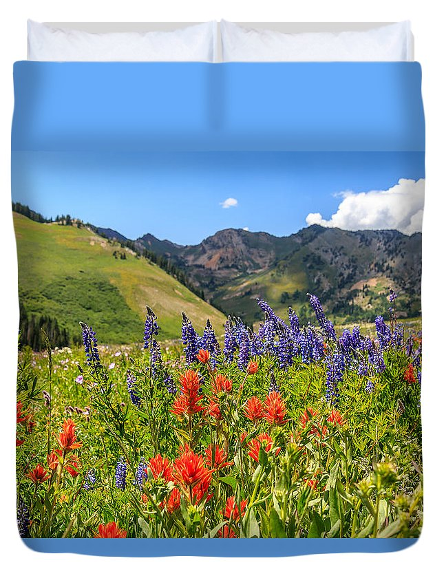 Trailsxposed Duvet Cover featuring the photograph Color Of Summer by Gina Herbert