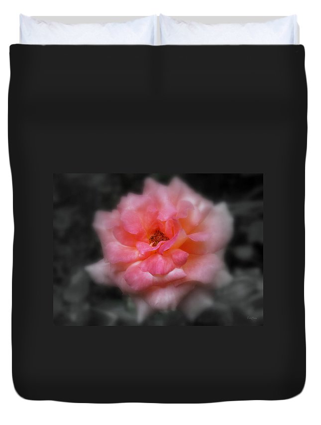 Flower Duvet Cover featuring the photograph Color Returning by Deborah Crew-Johnson