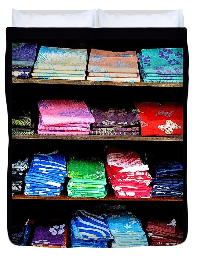 Batik Duvet Cover featuring the photograph Color Rules by Ian MacDonald