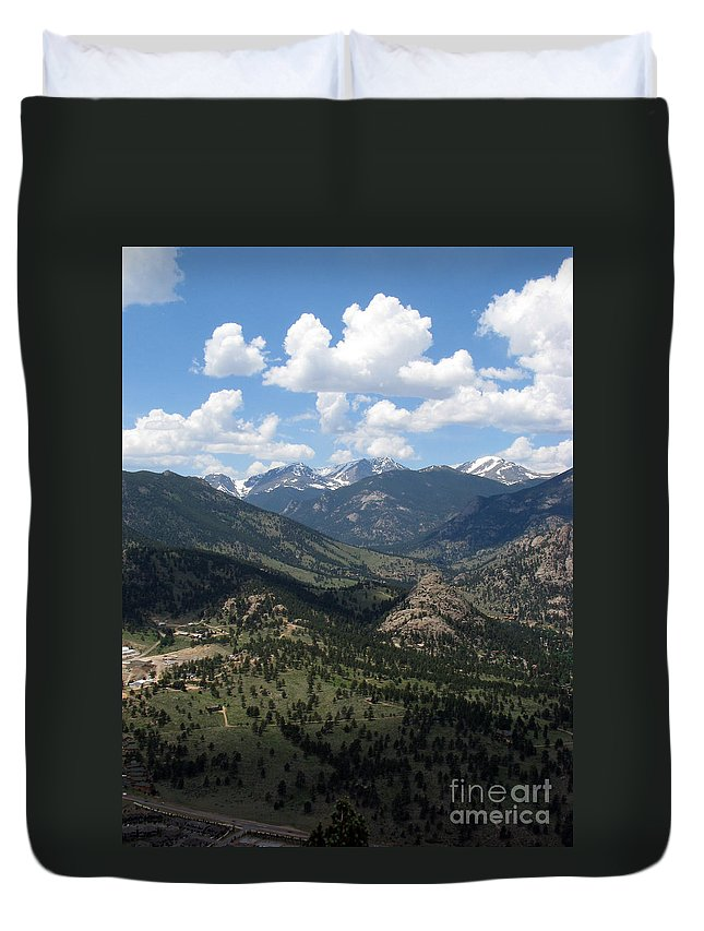 Colorado Duvet Cover featuring the photograph Colorado by Amanda Barcon