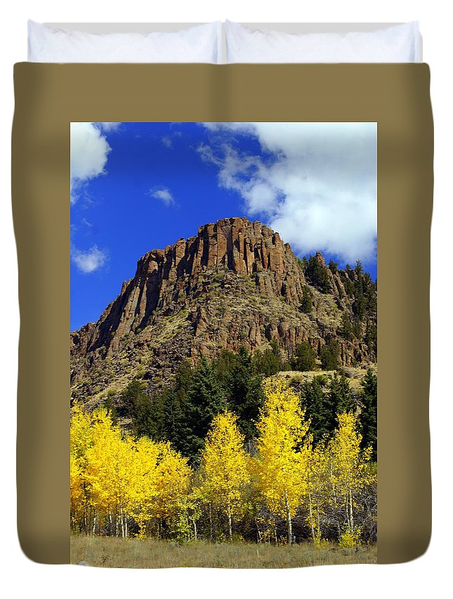 Colorado Duvet Cover featuring the photograph Colorado Butte by Marty Koch