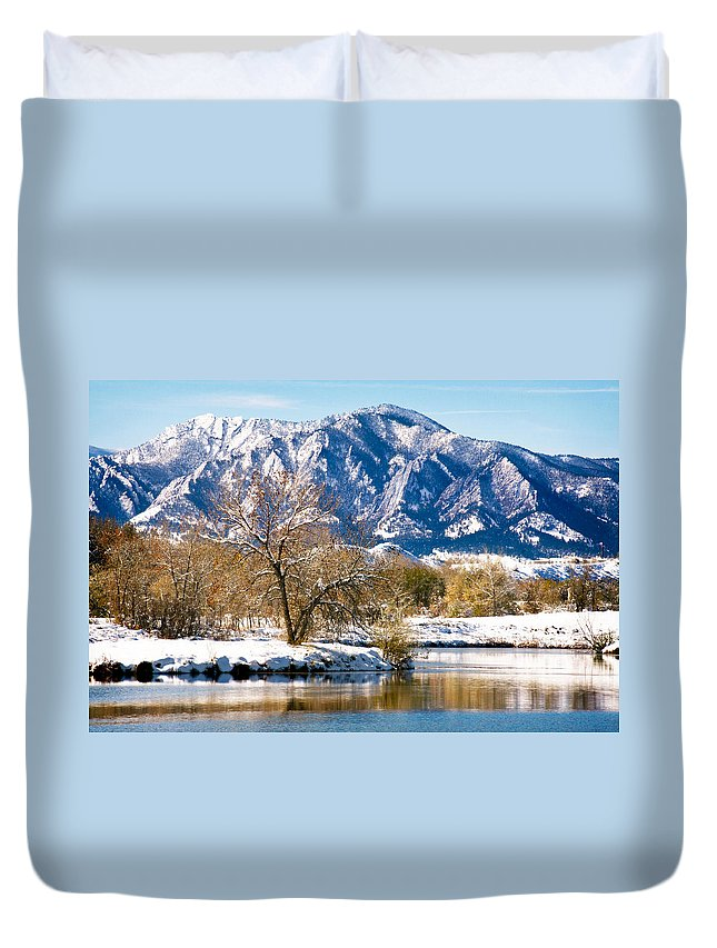 Colorado Duvet Cover featuring the photograph Colorado Flatirons 2 by Marilyn Hunt