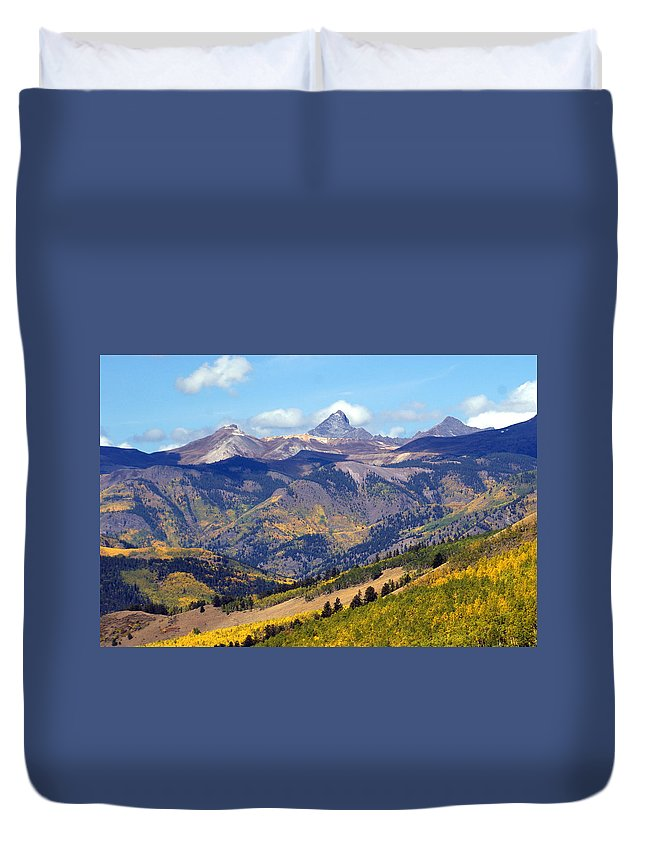 Mountains Duvet Cover featuring the photograph Colorado Mountains 1 by Marty Koch
