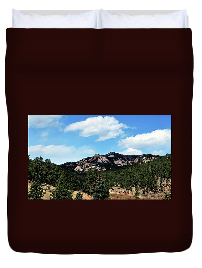 Colorado Duvet Cover featuring the photograph Colorado Mountains by Angelina Vick