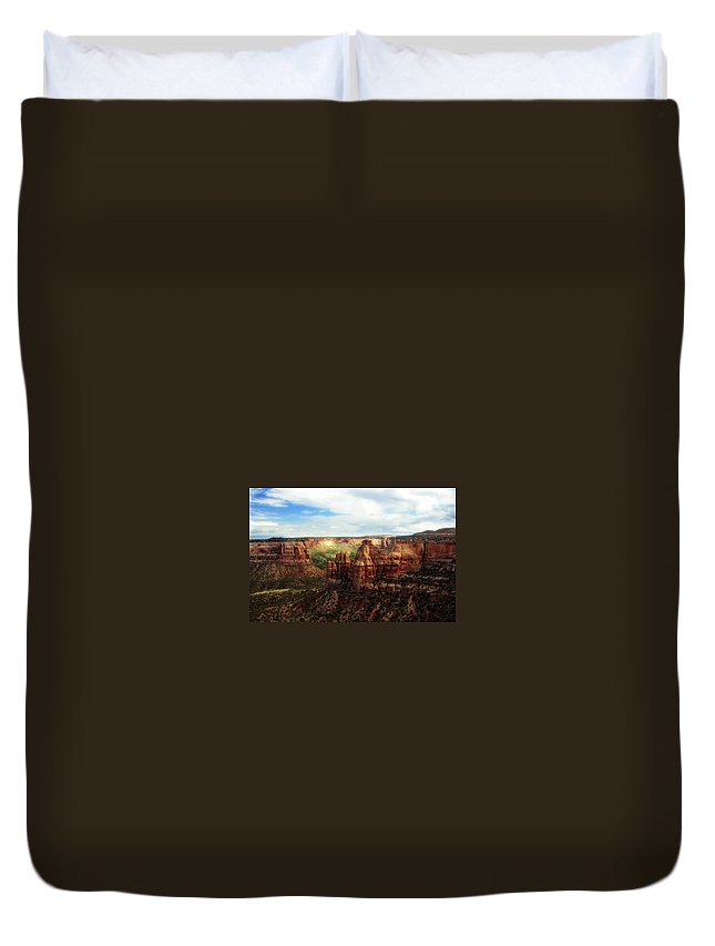 Americana Duvet Cover featuring the photograph Colorado National Monument by Marilyn Hunt