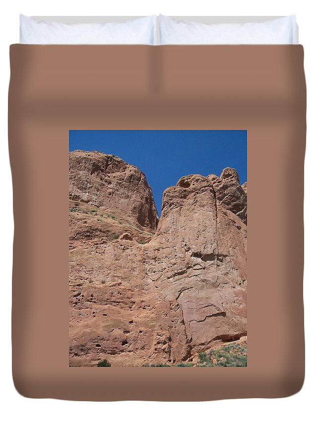 Colorado Duvet Cover featuring the photograph Colorado Redrock by Anita Burgermeister