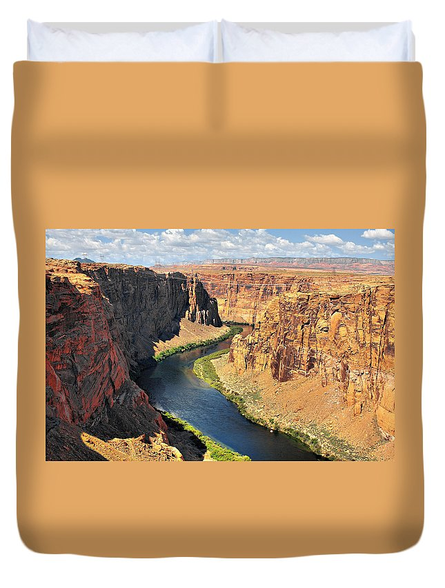 River Duvet Cover featuring the photograph Colorado River At Marble Canyon Az by Christine Till