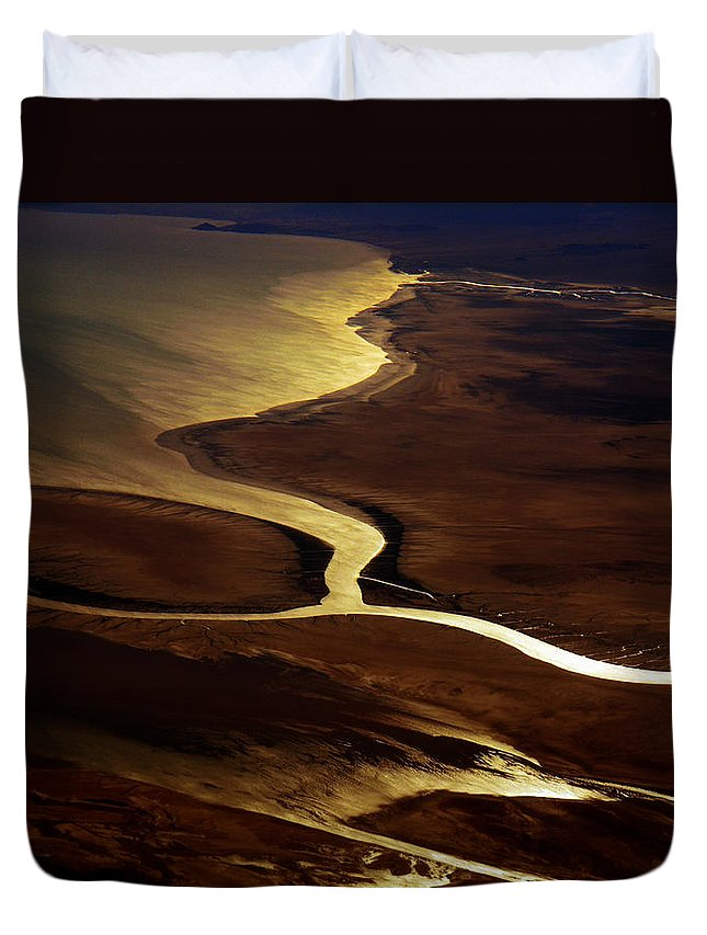 River Duvet Cover featuring the photograph Colorado River Delta by Strato ThreeSIXTYFive