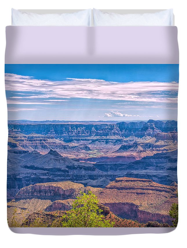 Landscape Duvet Cover featuring the photograph Colorado River In The Grand Canyon by John M Bailey