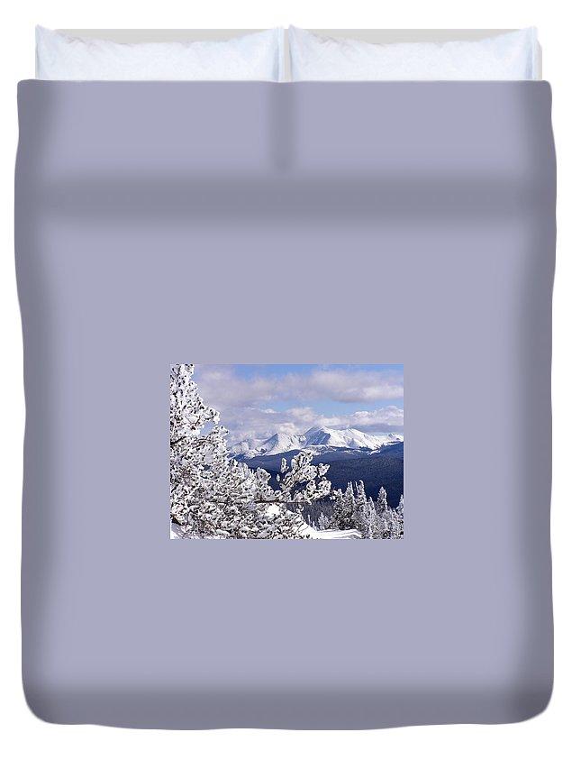 Mountains Duvet Cover featuring the photograph Colorado Sawatch Mountain Range by Carol Milisen