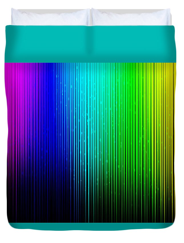 Decoration Duvet Cover featuring the photograph Colorful Background With Vertical Lines by Jose Luis Agudo