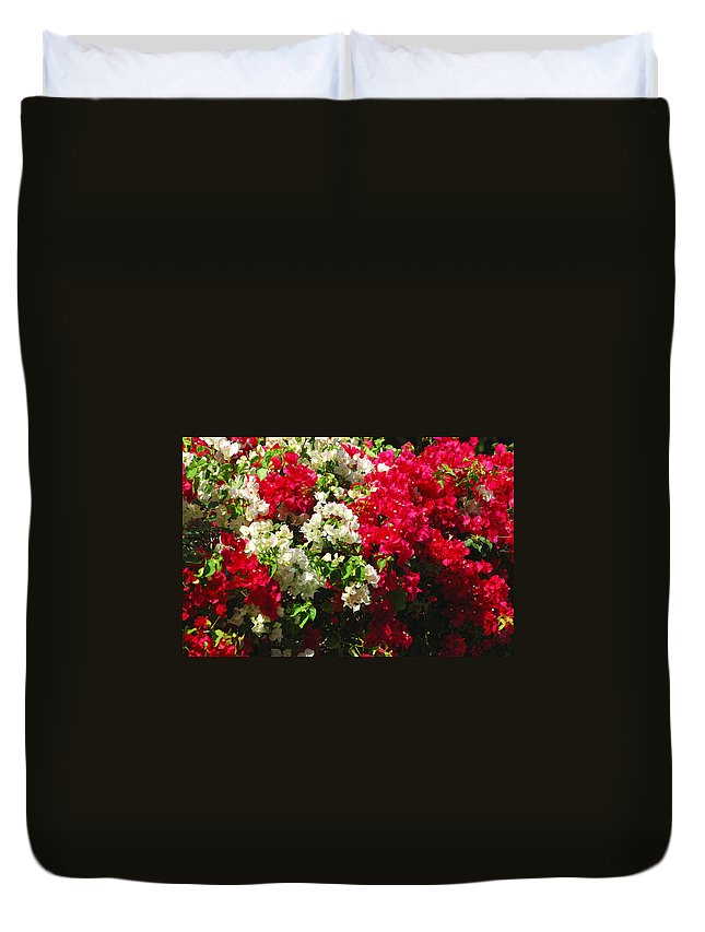 Bougainvilleas Duvet Cover featuring the photograph Colorful Bougainvilleas by Susanne Van Hulst